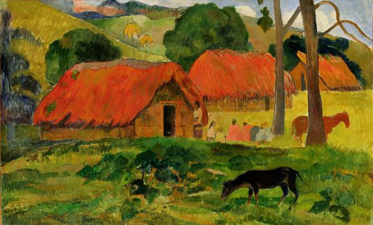 GAUGUIN, Paul / Dog in Front of the Hut, Tahiti / 1892