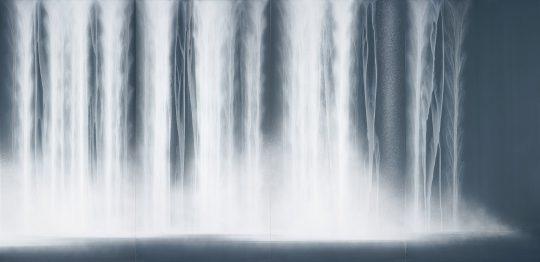 "Fusuma Paintings for Kongobuji Temple, Koyasan ""Waterfall"" (part) 2018"