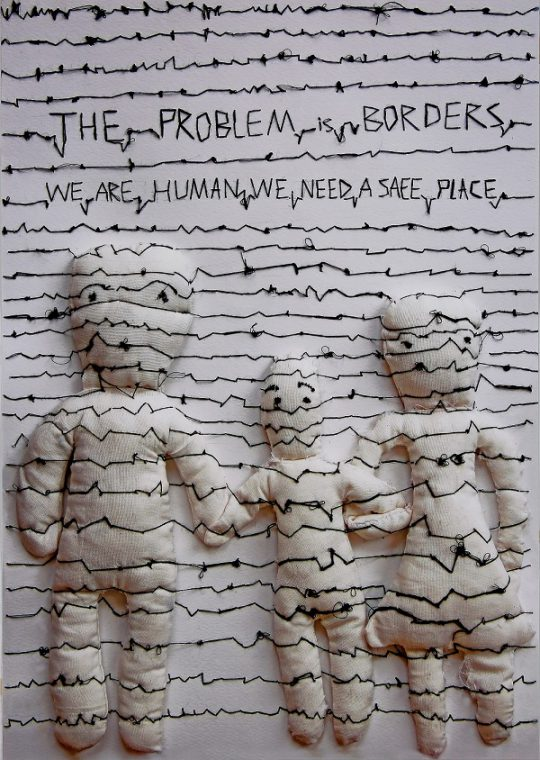 """HEMMAT, ELHAM (IRAN) """"The problem is borders we are human we need a safe place"""" 2017"""