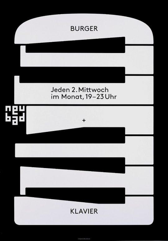 """HI (Zumstein, Megi  & Barandun, Claudio) (SWITZERLAND) """"BURGER + KLAVIER"""" 2015"""