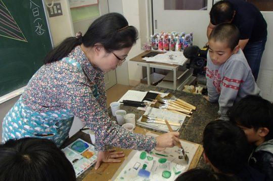 Workshop Scene (collaborated with elementary school and Momoko Yamaguchi)