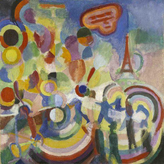 ロベール・ドローネー 《ブレリオに捧ぐ》1914年