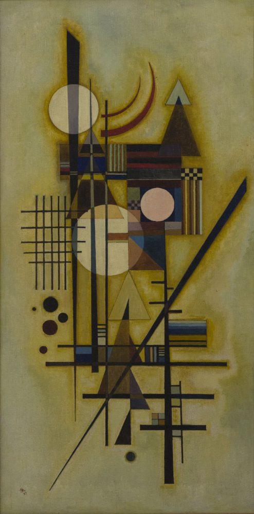 ワシリー・カンディンスキー 《軟らかな中に硬く》 1927年