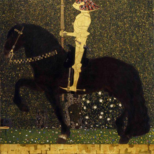 グスタフ・クリムト 《人生は戦いなり (黄金の騎士) 》1903年