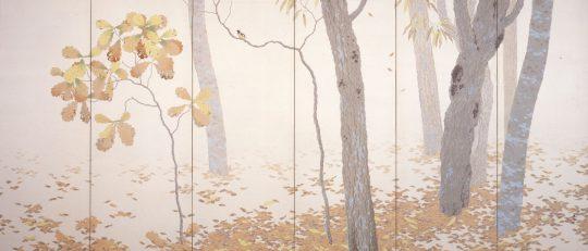 菱田春草 《落葉》 1909年