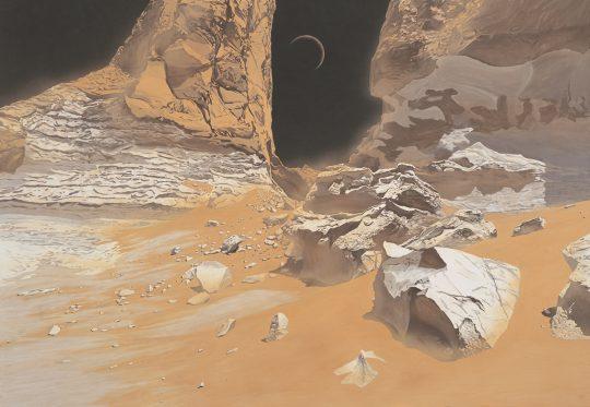 《月響》 2006年 軽井沢千住博美術館所蔵