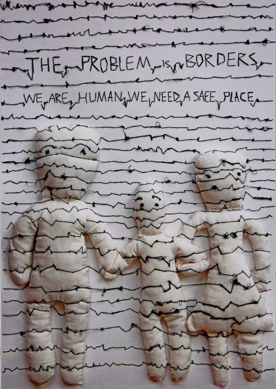 エルハム・へマット(イラン)《問題は国境 私たちは人間、安全な場所が必要》2017年