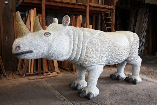《Animal 2010‐01》 2010年 樟、油彩