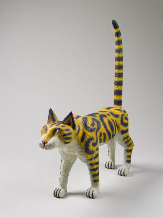 《Cat 2013-03》 2013 年 樟、油彩