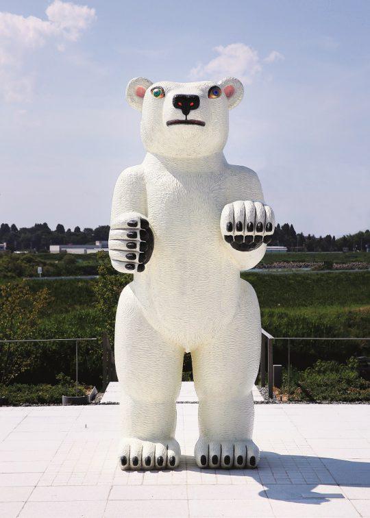 《Animal 2017-01-B》 2017年 ブロンズ、塗料 富山県美術館所蔵